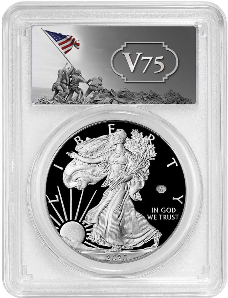 COA for Amer Eagle 1 oz coin NO COIN Box 75th Anniversary WWII Case NO COIN