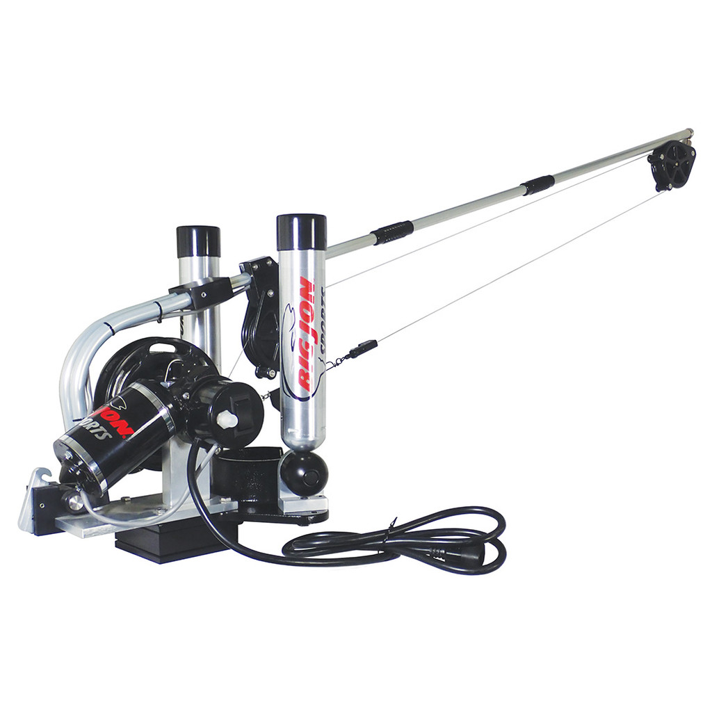 "Big Jon's ""Pro Tournament"" electric downrigger is the step up from the ""Captain's Pak"" that many tournament fishermen have asked for. The new sealed, ""High-Torque"" motor will retrieve a 12 lb. cannonball at 120 feet a minute."