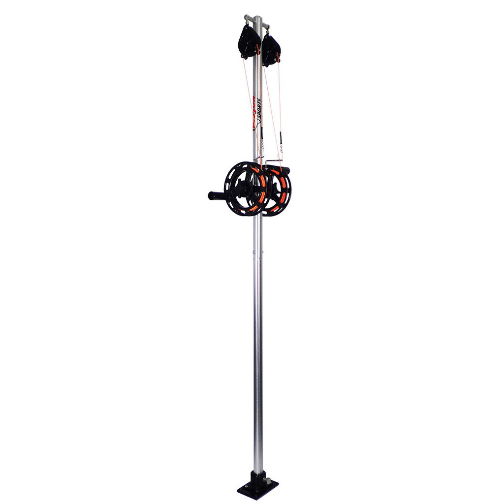 """Big Jon's Dual Manual Planer Rigger has been long regarded as """"The Industry Standard""""; for good reason, it is constructed from high-strength aluminum! The 1 1/2 inch diameter tubing used for the mast has a 1/8th inch wall thickness! You won't find a sturdier mast on the market."""