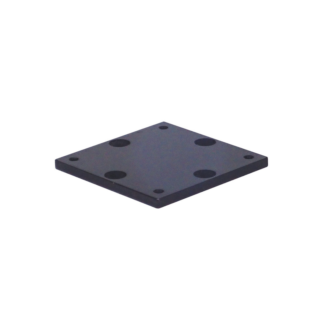"""The 4"""" x 4"""" Mounting Plate is a precision machined aluminum mounting plate that accepts all Big Jon products with 4"""" x 4"""" bases. It comes with 3/4"""" stainless steel hex head bolts."""