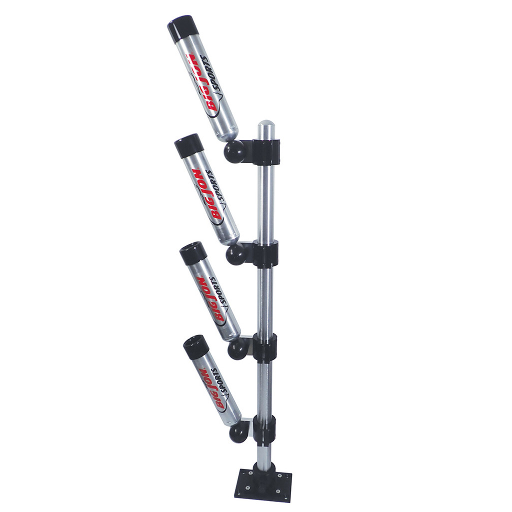 """Big Jon's """"Multi-Set Rod Holder"""" is one of the most popular rod holders on the market; for good reason, not only is it among the most solid built rod holders available, it is so easy to use, that you can adjust it to any of nine it's positions."""