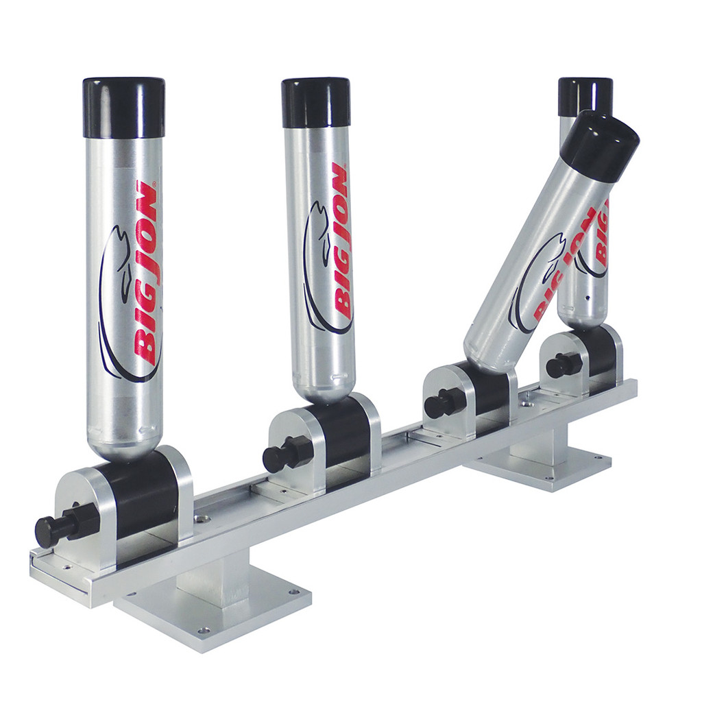 "Big Jon's Quad ""Heavy-Duty Diver Rod Holder"" is a popular rod holder set for use with diving disks; for good reason, not only are they the most solid rod holder we build, they are easy to use, and you can adjust them to any of their seven positions, with a positive locking latch pin!"