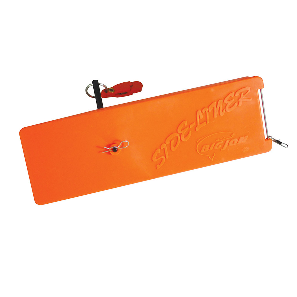 """Big Jon's 9 inch """"Side-Liner"""" is the only in-line  planer with built-in rattles, that will attract fish from a distance. This in-line planer will take your lure out from the sides of your boat. The Side-Line attaches directly to your fishing line, so there is no need for a planer mast."""