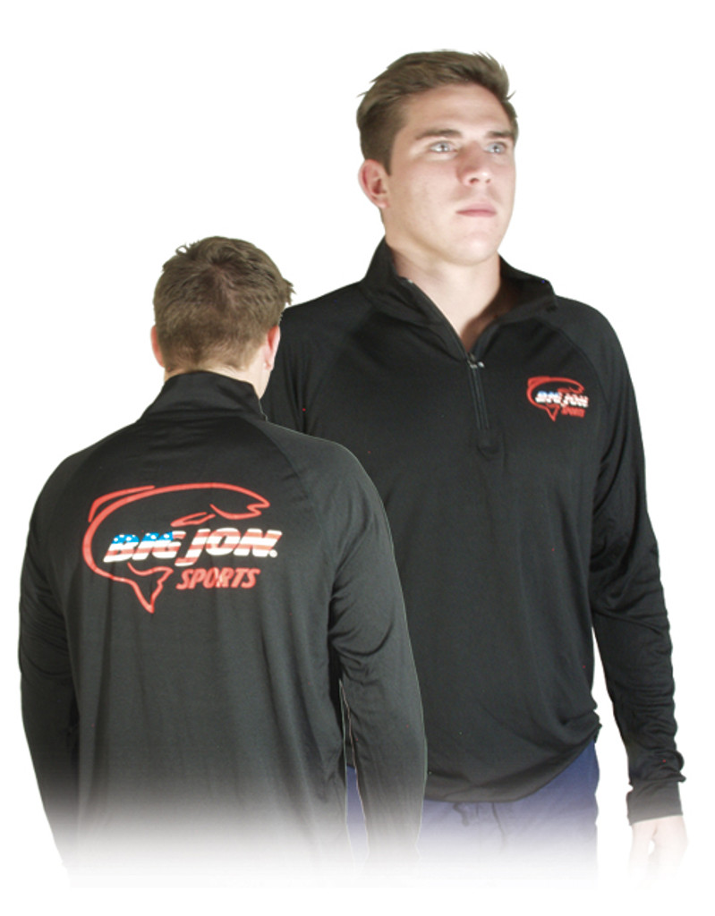 Black Long Sleeve 1/4 Zip