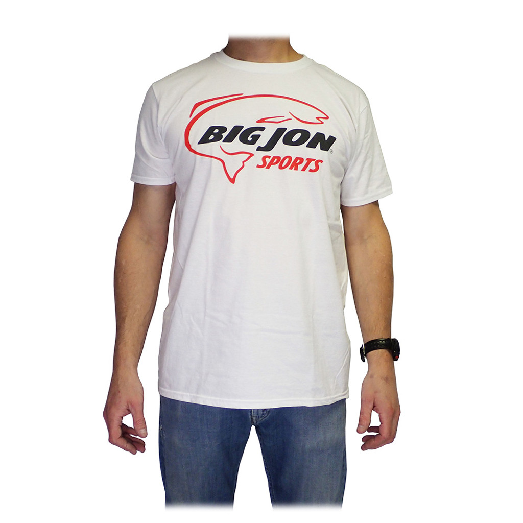 White 100% Ring Spun Pre-Shrunk Cotton Tee - Red + Graphite Front Logo w/ Free Shipping!