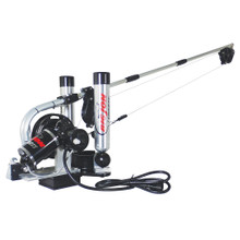 "Big Jon's ""Pro Tournament"" electric downrigger is the step up from the ""Captain's Pak"" that many tournament fishermen have asked for. The new sealed, ""High-Torque"" motor will retrieve a 12 lb. cannonball at 140 feet a minute."