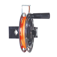 """If you want to custom build your own planer system, you're in luck! You can mount Big Jon's Single Manual Planer Reel to any mast, rail or radar arch that is 7/8 inch to 1 1/2 inch outside diameter. Add Big Jon's Planer Pulley to complete you planer system. Fishing with Big Jon planer riggers allows you to spread your lure presentation over a wide area,  an advantage when fishing """"Boat Shy"""" fish."""
