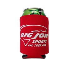 Red Big Jon Sports Koozie w/ Est. 1968 USA