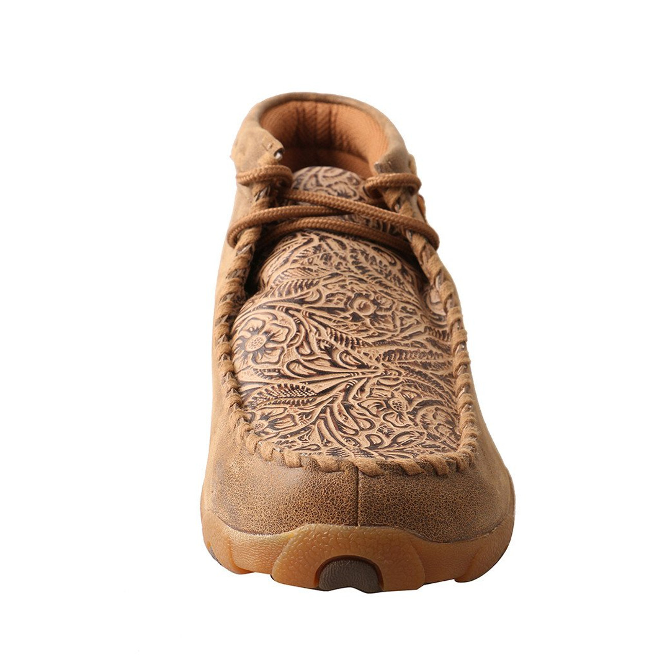 WDM0081 Twisted X Women's Driving Moccasins Brown//Tooled Flowers NEW