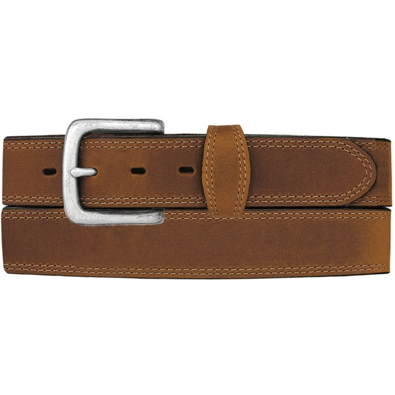 Silvercreek Mens Basic Western Leather Belt Brown 46