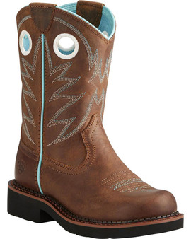 Ariat Girls' Fat Probably Cowgirl Boot Round Toe - 10021608