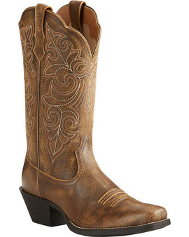 Ariat Women's Round Up Distressed Leather Cowgirl Boots - Square Toe