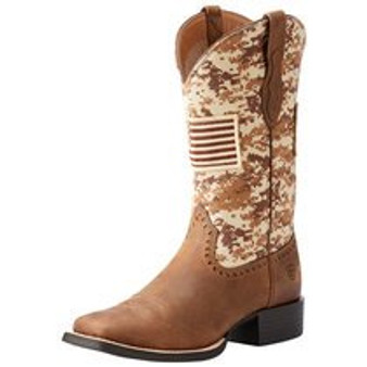 Ariat Womens Sport Patriot Antique Mocha Sand Camo Boot