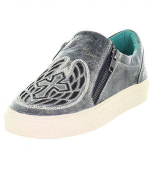 Corral Gray Wings and Cross Sneakers