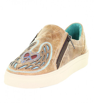 Corral Saddle Heart Wings and Peace Sneakers