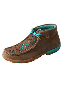 Women's Chukka Tooled and Turquoise Driving Moc