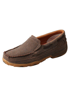 Women's Slip-On Chocolate SHIMMER Driving Moc