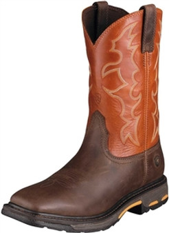Ariat Mens Earth Brick Square Toe Workhog Work Boots