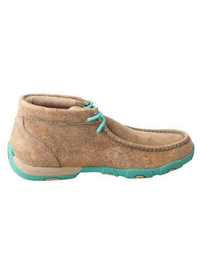 Twisted X Women's  Driving Moc Brown/Turquoise