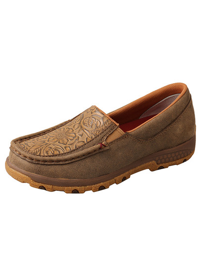 Women's Slip On-Driving Tooled Moc with CellStretch®