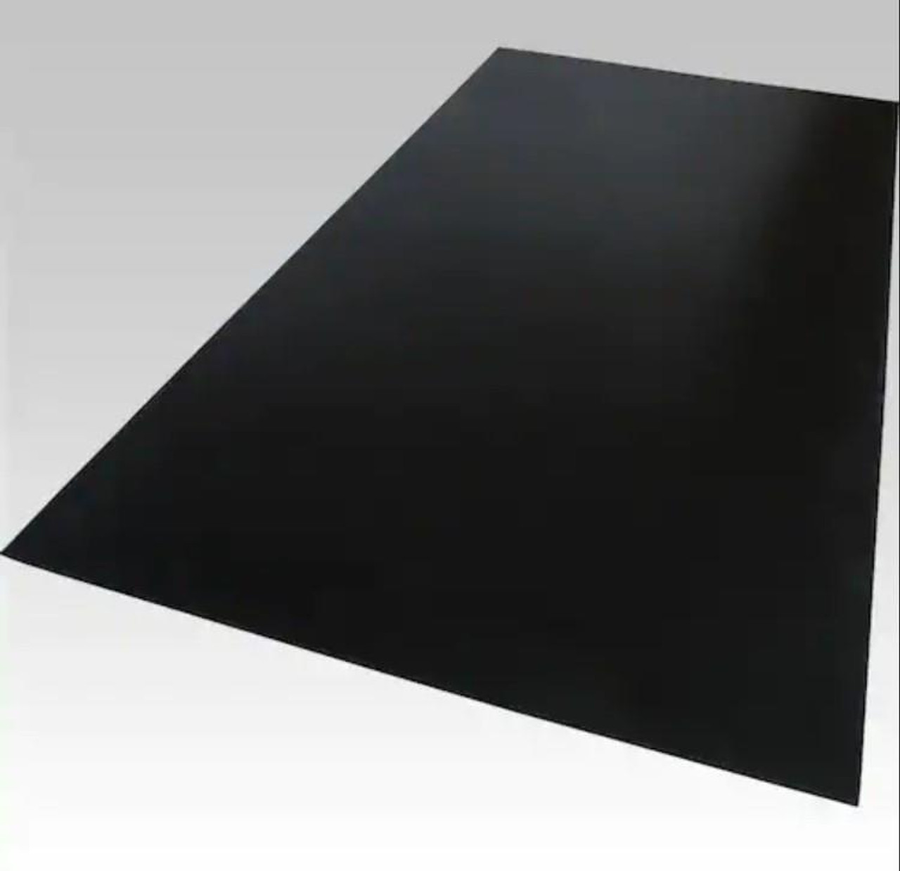 "Black Plexiglass Cast Acrylic Sheet 24/"" X 24/"" X 1//8/"""