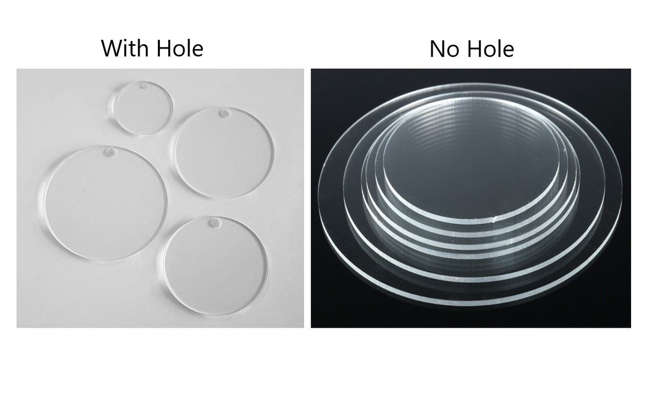 """5 Pcs 3/"""" Dia x 1//4/"""" Thick Laser Cut Clear Cell Cast Acrylic  Disks"""