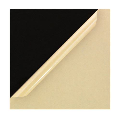 "Black Cast Acrylic Plexiglass: 1 Sheet 12"" x 12"", [1/8"" Thick (3mm)]"