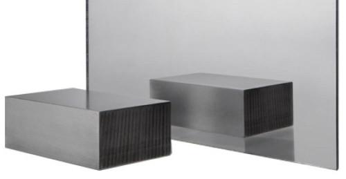 "Silver Mirror Cast Acrylic Plexiglass 1 Sheet 24"" x 12"", [1/8"" Thick (3mm)]"