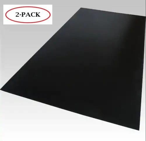 "Black Cast Acrylic Plexiglass Sheets 12"""" x 24"""", [1/8"""" Thick (3mm)] - [2 Pack]"