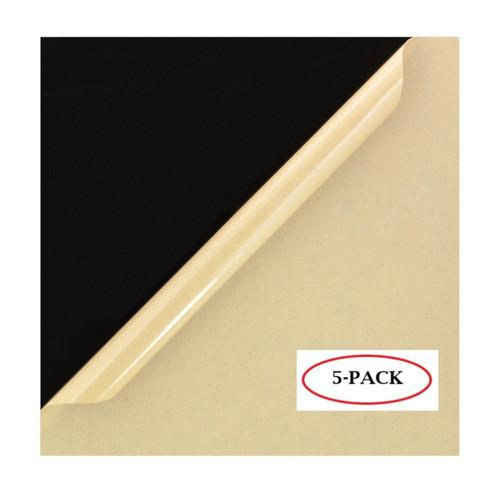 "Black Cast Acrylic Plexiglass Sheets 12"""" x 12"""", [1/8"""" Thick (3mm)] - [5 Pack]"