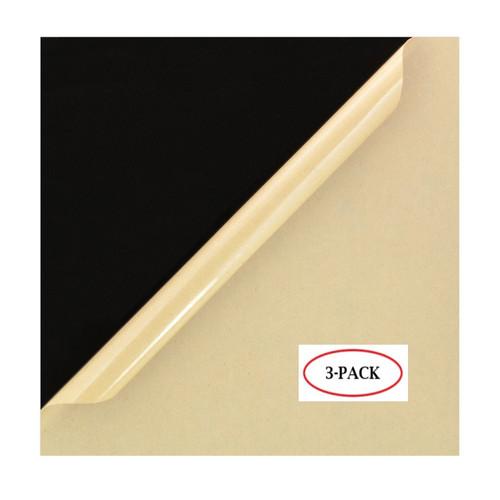 "Black Cast Acrylic Plexiglass Sheets 12"" x 12"", [1/8"" Thick (3mm)] - [3 Pack]"