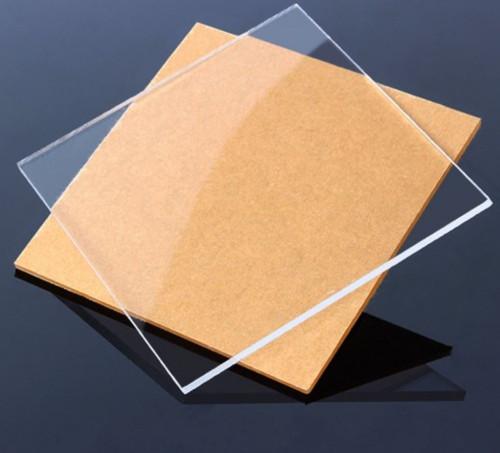 "Clear Cast Acrylic Plexiglass 1 Sheet, 12"" x 12"", 1/8"" Thick (3mm)"