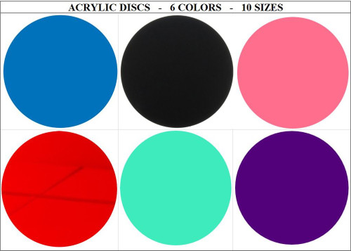 100 Laser Cut Color Acrylic Blank Round Discs Smooth Edge Plexiglass Circles 1/8 inch (3 mm)