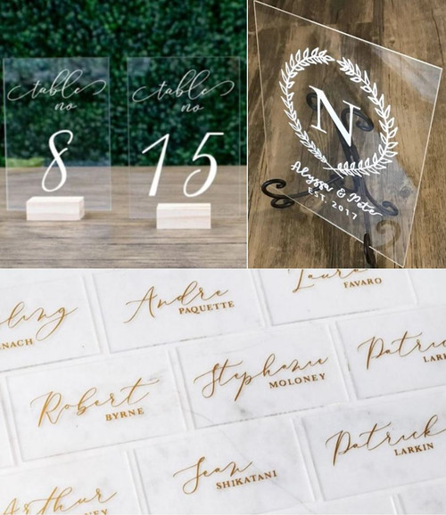20 Laser Cut Clear Acrylic Blank Shapes: Choose Size