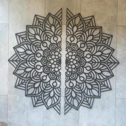 Wooden Half Mandala