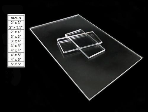100 Laser Cut Clear Acrylic Blank Shapes: Choose Size
