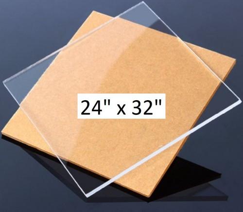 Clear Cast Acrylic Plexiglass Sheet 1/4 inch Thick (6mm)