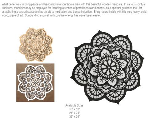 Laser Engraved Mandala