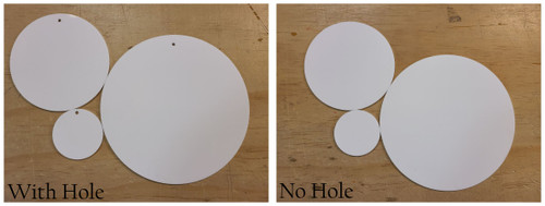 100 Laser Cut White Acrylic Blank Round Discs