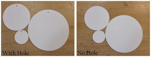 60 Laser Cut White Acrylic Blank Round Discs