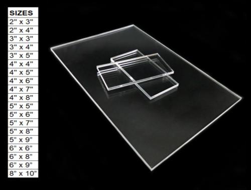 30 Laser Cut Clear Acrylic Blank Shapes: Choose Size