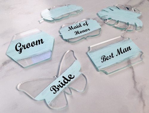 Blank Clear Acrylic DIY TABLE PLACE CARDS (30 Choices)