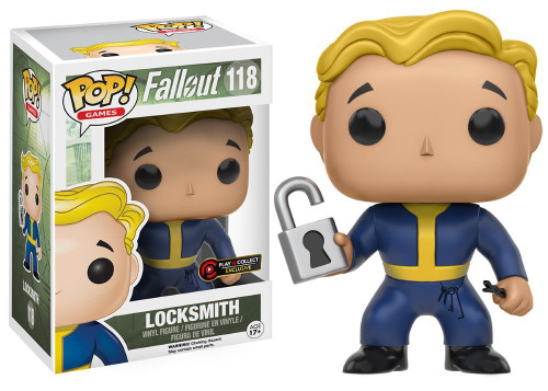 Funko POP! Fallout: Locksmith - Play & Collect Exclusive Vinyl Figure 118 NEW