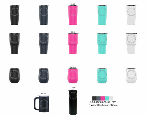 Laser Engraved ONE TUMBLER TO RULE THEM ALL Stainless Steel Powder Coated Tumbler + Splash Proof Lid + 2 Straws*, Triple Wall Vacuum Insulated, Mug Coffee Cup Travel Camping Work