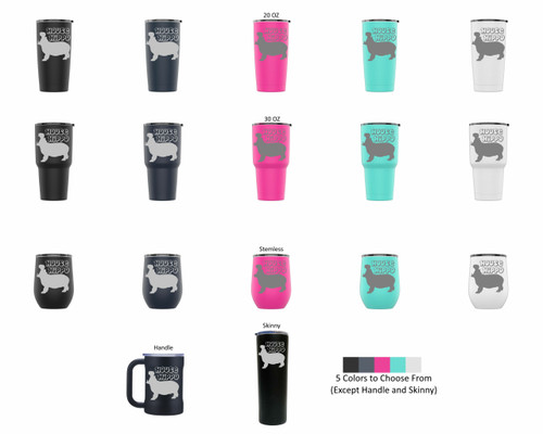 Laser Engraved HOUSE HIPPO Stainless Steel Powder Coated Tumbler