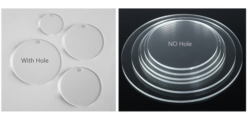 60 Laser Cut Clear Acrylic Blank Round Discs 3/16 inch (4.5 mm) Thick