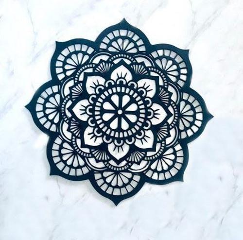 Classic Wooden Mandala for Yoga Studio or Home Decor Gift - Zen, Wooden, Bohemian, Spiritual Wall Art 4 Sizes and 2 Colour Options