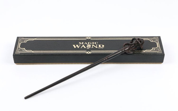 Harry Potter Wand Replica: Death Eater Mark - Prop Cosplay Replica Figure + BONUS Deathly Hallows Collectible Trading Card