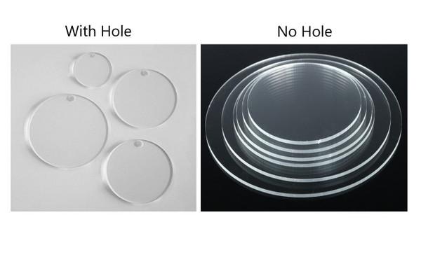 100 Laser Cut Clear Acrylic Blank Round Discs