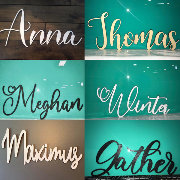 Your Name In Any Of Our 4 Fonts!